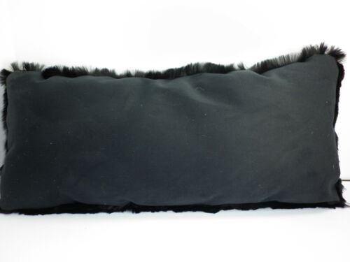Real Genuiine Dyed Black Sheared Rabbit Fur Pillow New made in usa fur cushion