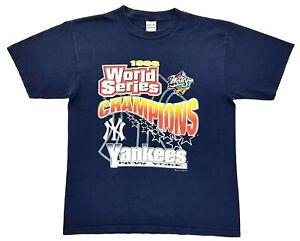 Vintage-New-York-Yankees-98-World-Series-Champions-Tee-Navy-Size-L-Mens-T-Shirt