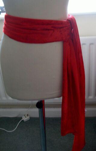Pirate-ZORRO-DRACULA Fascia Cappello Tie Red Velvet Costume oggetto