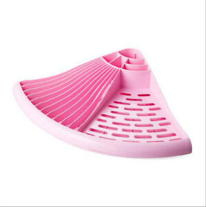 PinkTriangle-Dish-Drainer-Rack-Tray-Utensil-Cutlery-Kitchen-Plate-Holder-Plastic