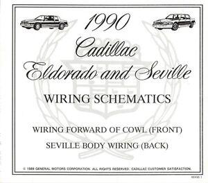 1990 Cadillac Seville + ElDorado Wiring Diagram / Schematics | eBayeBay