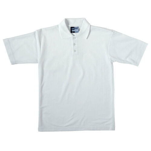 Zeco Boys  Kids  School Uniform Schoolwear Collor Plain Heavy White Polo Shirt