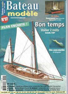 Bateau Modele N 97 Plan Voilier 2 Mats Bon Temps St Gilles 2 Titanic Ebay
