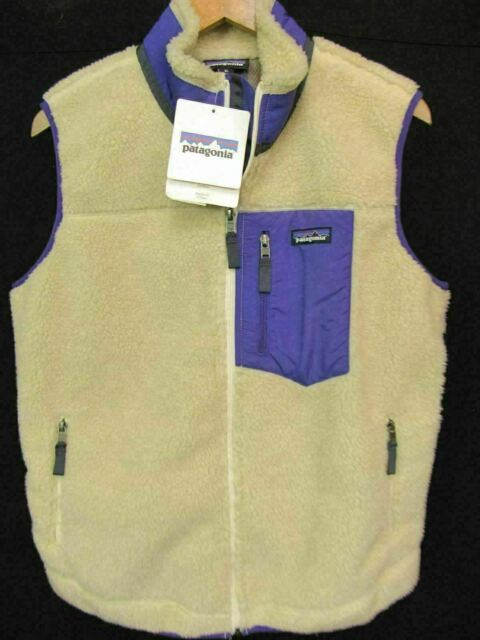 Patagonia Classic Retro-X Natural Thick Pile Womens Fleece Vest NWT XL