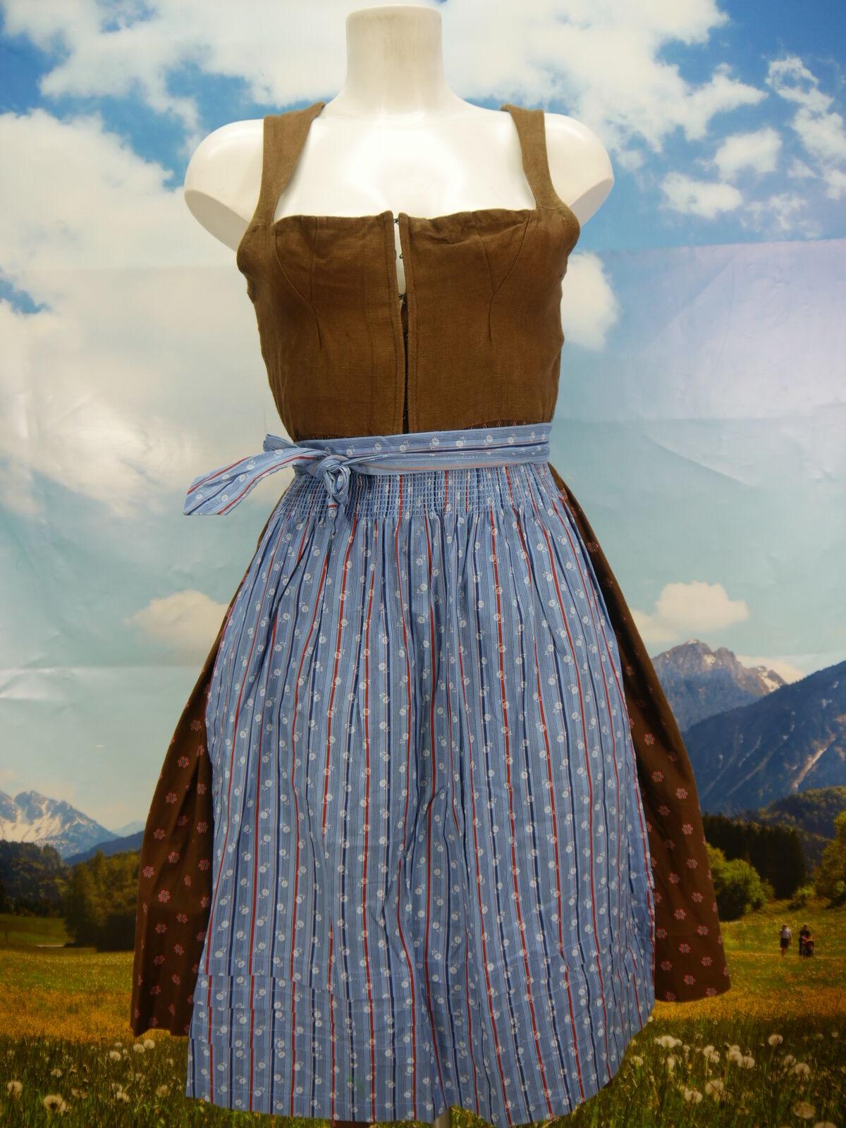 Original Lanz herrlich 60er Jahre Handgenäht Vintage Dirndl mit Schürze Gr.38