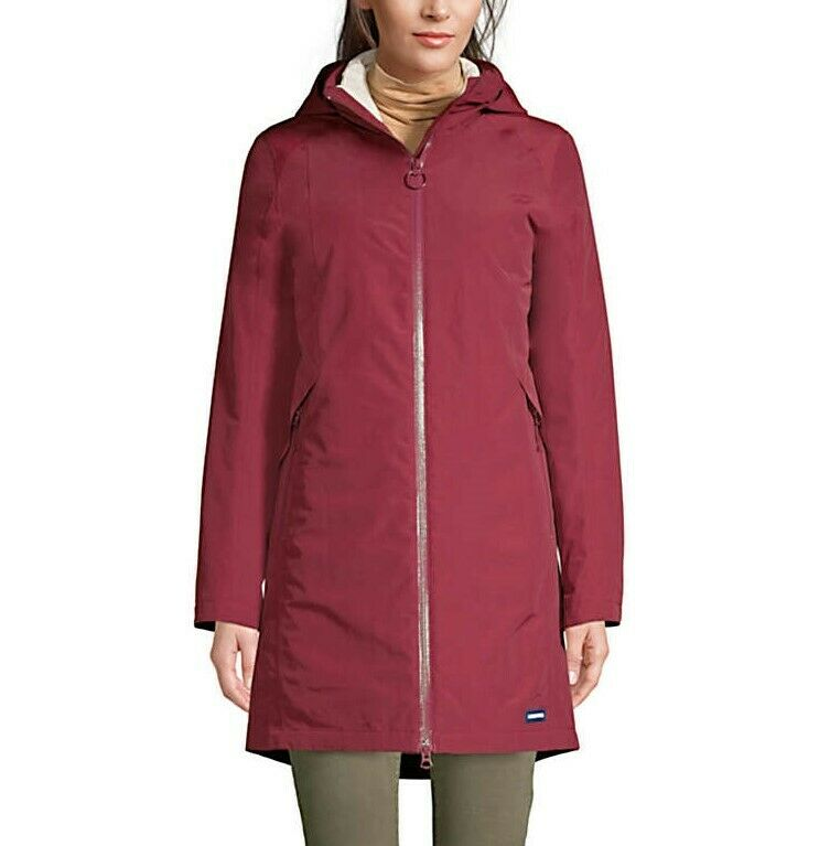 LANDS' END LT(14-16) Waterproof Squall 3 in 1 Hooded Long Coat NWT