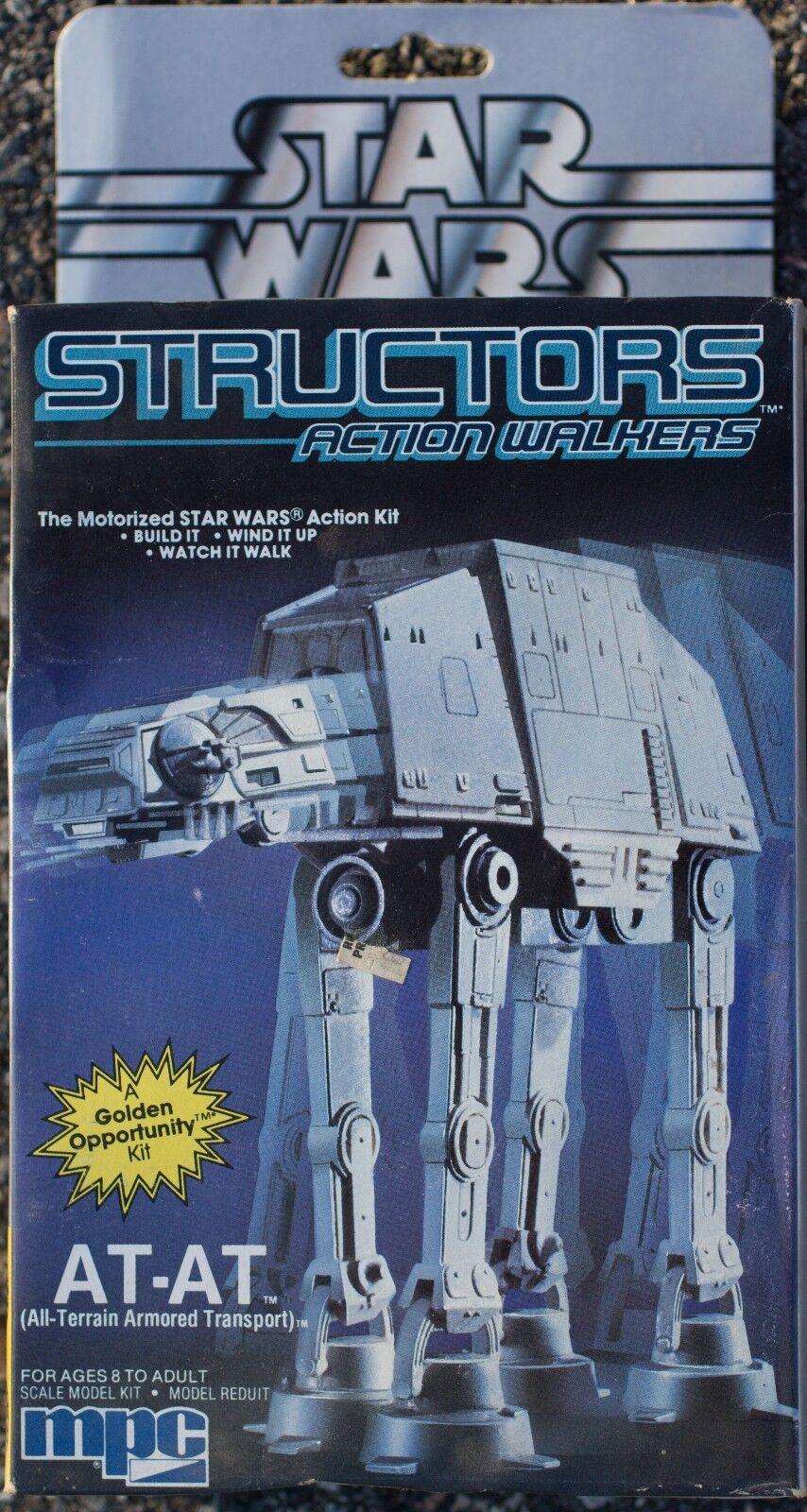 1984 Star Wars AT-AT Structors Motorized Action Walkers Model Kit Sealed NOS