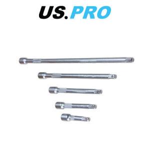US-PRO-1-4-034-Dr-Extension-Bar-Set-5pc-50-75-100-150-225mm-4157