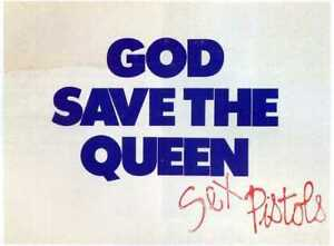 Details About Sex Pistols God Save The Queen 45rpm Single Am Window Poster Reprint