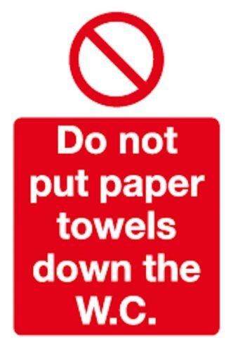 hc50h 10x non mettere asciugamani di carta verso il basso la WC-WC segno 100 X 150mm
