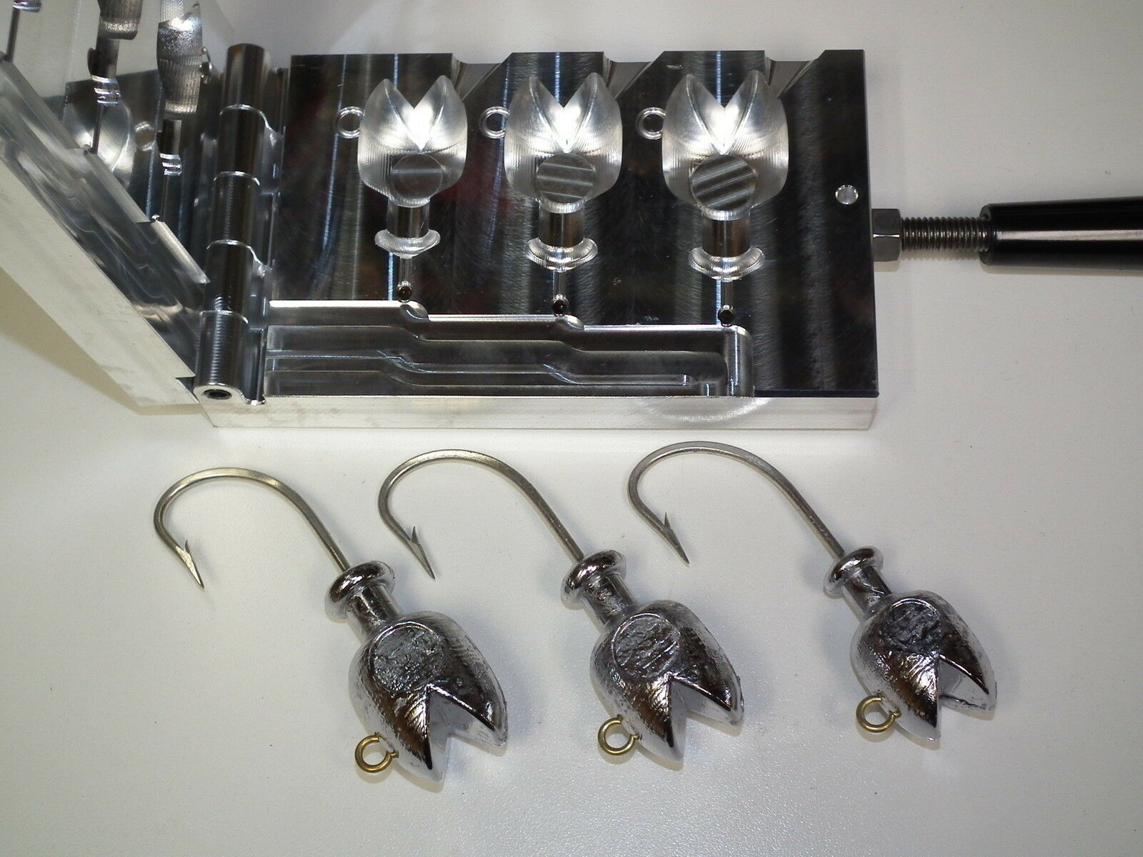 Saltwater Pacman Jig mold 8,10,12oz CNC Aluminum Striper Cobia 3407   manufacturers direct supply