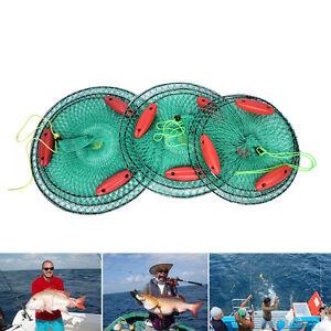 Folding-Round-Crab-Fish-Care-Nylon-Mesh-Foldable-3-layers-with-3-Floating-CrabLJ