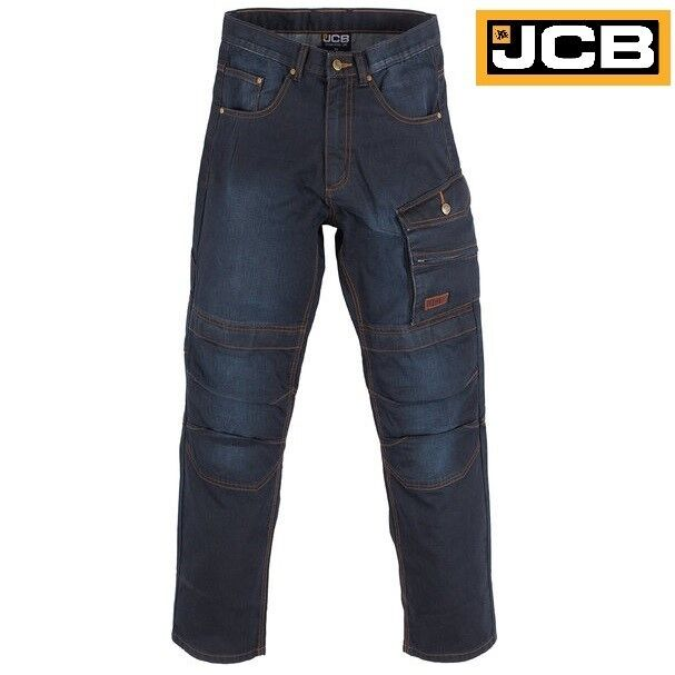 New JCB Trade Denim Work Jeans Worker Trade Pro Cargo Combat Trousers knee Size