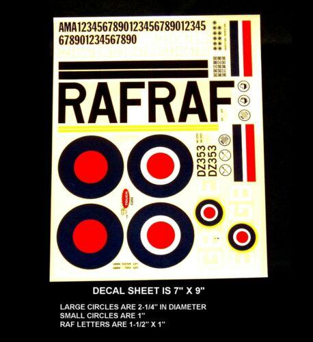RC Wet-Transfer Decals ROYAL AIR FORCE WW-II No C202 hermetically Sealed NIP