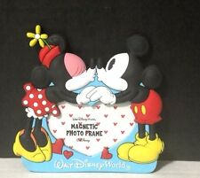 disney parks mickey mouse and minnie mouse photo frame kissing magnet small - Mickey Mouse Picture Frames