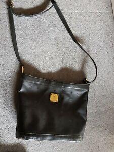Details zu MCM Original Shopper Handtasche schwarz Vintage