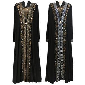 Muslim-Prayer-Abaya-kaftan-Arab-Dubai-Islamic-Dress-Women-Maxi-Black-Chador-Robe