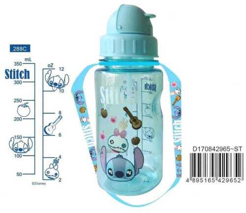 Disney Lilo Stitch BPA Free Tritan Straw Water Bottle Kids Baby Sippy Mug Strap