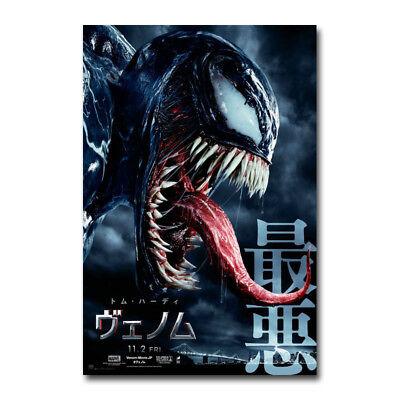 VENOM Movie Art Silk Fabric Poster Canvas Print 12x18 24x36 inch Wall Decor
