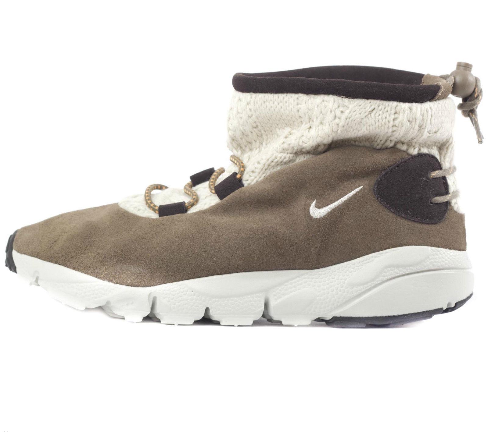 Nike Top Mujeres Air al horno Mid Top Nike Zapatillas Informales Gamuza Textil botas de Color caqui 093a19