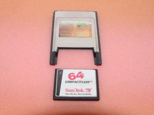 SANDISK 64MB CF CompactFlash Memory Card PCMCIA Adapter