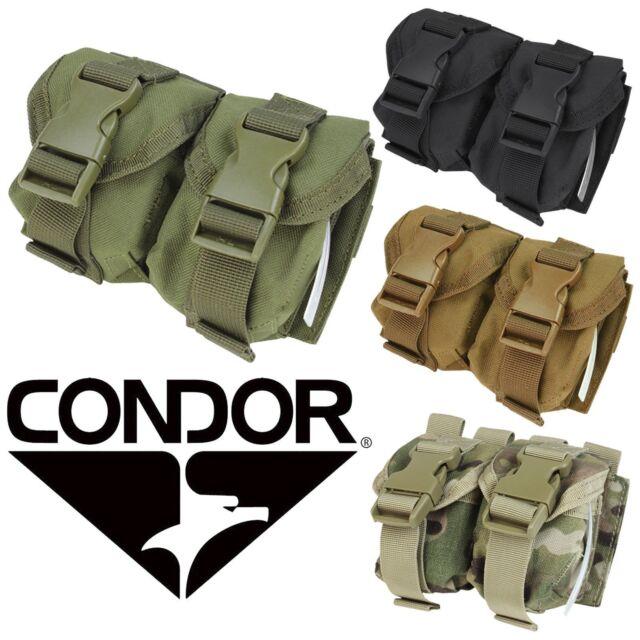 NEW Condor MA14 Tactical MOLLE Dual Double Frag Grenade Pouch MA14-002 Black