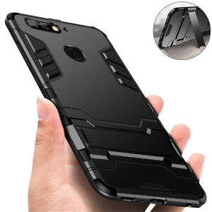 Shockproof Hybrid Armor Kickstand Case Cover For Huawei Y6