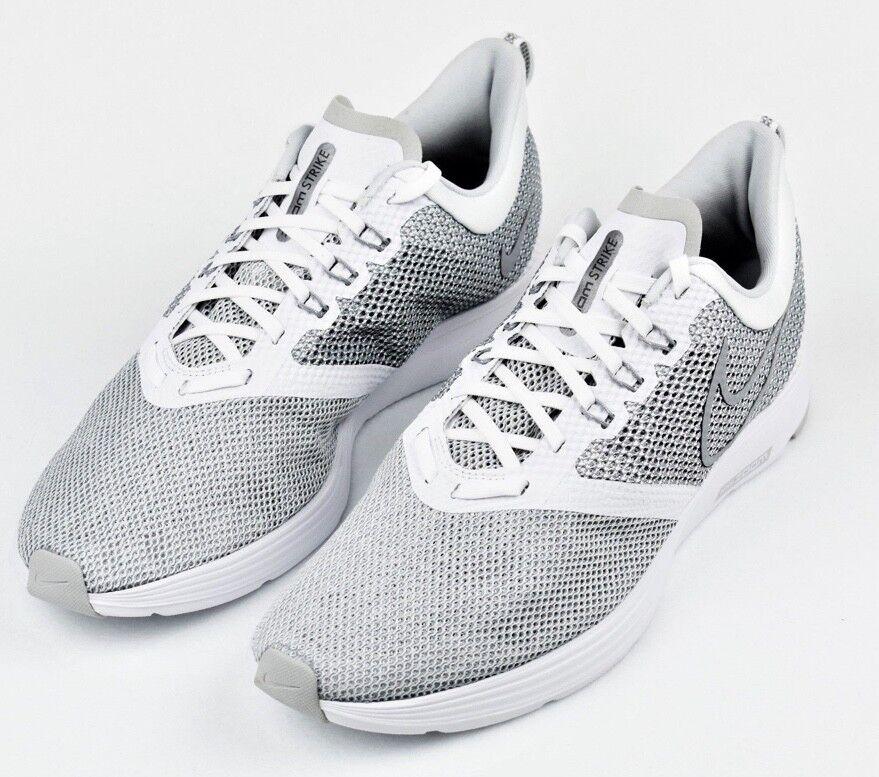 New Nike Zoom Strike Running Shoes AJ0189 100 Wolf Grey Sz 12 Free Shipping