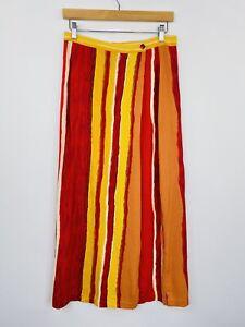 Vintage-90s-Wrap-Maxi-Wrap-Skirt-Boho-Festival-Rayon-Viscose-Size-14-Fit-10