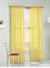 Buy Threshold Yellow Semi Sheer Wave Window Curtain Panel 54x84 Gray