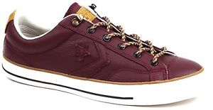 Men s Converse 149793C CONS STAR PLAYER OX SNEAKER Burgundy Leather ... 2e296de29