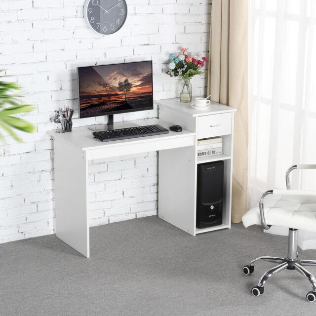 Small Desk Laptop Office Home Storage Drawer Wood Furniture Women Men Student