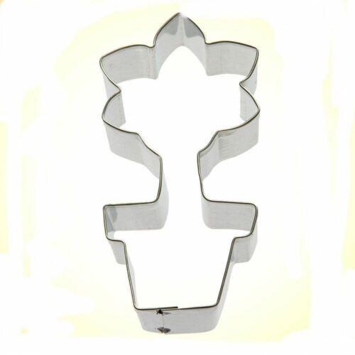 "Flower Pot w// Flowers Cookie Cutter 3.75/"" Bloom Plant Garden"