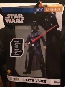 Star-Wars-Darth-Vader-Costume-Boy-Medium-M-8-10-Disney-Rubies