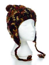 Hand Knitted Winter Woollen Crochet Earflap Hat, One Size, UNISEX CFEH01