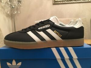 Image is loading Adidas-Gazelle-Super-Black-White-Size-10-80s-