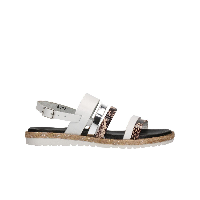 KEYS Sandali scarpe bianco donna bianco scarpe mod. 5887 6ceaba
