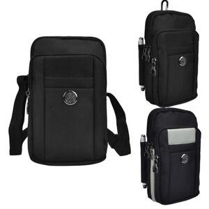 Black Men's Shoulder Bag Belt Clip Phone Pouch For Lenovo S5 K5 Z5 Pro / K9 K8