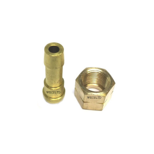 "HOSE TAIL SET SWP 3//8/"" BSP FEMALE THREAD TO 3//8/"" HOSE FITTING LEFT HAND NUT"