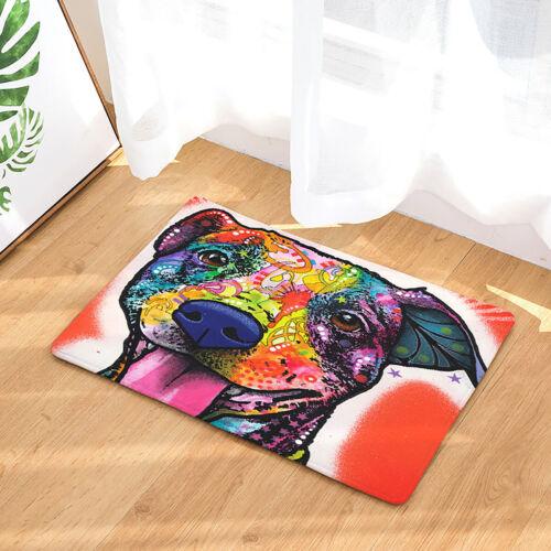 Dog Print Doormat Entrance Floor Mat Outdoor Indoor Carpet Bath Kitchen Rug US