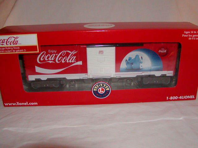 Lionel 639361 Coca Cola Polar orsos scatola auto O 027 nuovo 2014 Coke fatto in USA