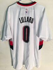 Adidas NBA Jersey Portland Trailblazers Damian Lillard White Short Sleeve sz XL