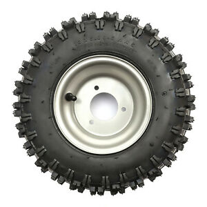 13x5-00-6-Drift-Zoom-Kart-Gokart-200cc-160cc-Silver-Wheel-Rim-3-Stud-Front-Rear
