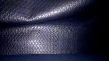 superbe tissu skai ou simili rigide col bleu marine carreaux  50x140 cm