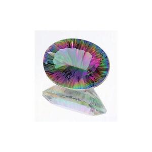 (10x8mm - 20x15mm) Oval Rainbow Quartz Concave Cut Loose Gemstone