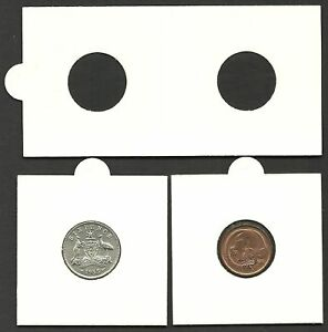 COIN-HOLDERS-2-x-2-Staple-Type-20mm-Suits-1c-5c-6d-Size-Coins-Bundle-of-50