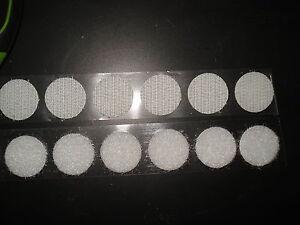 Pastilla-scratch-sujetador-de-diametro-33-mm-blanco-adhesivo-set-de-20-piezas