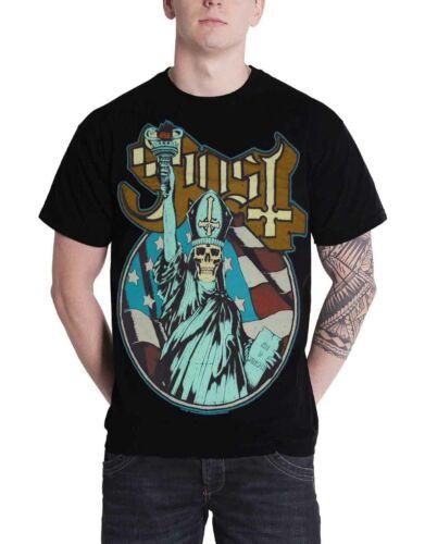 Ghost T Shirt Statue de la liberté au crâne si sensible papa Band Logo officiel Homme nouveau Noir