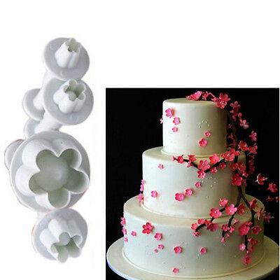 1Set/4pcs Flower Fondant Cake Cutter Decorating Baking Tools Sugarcraft Mold DIY