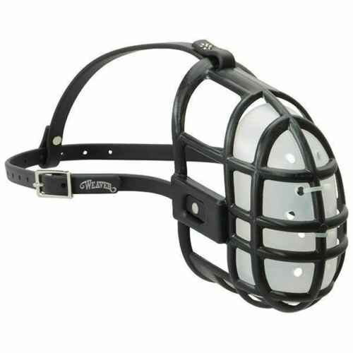 Weaver Livestock Black Molded Plastic Sheep Muzzle with Removable Inner Shell